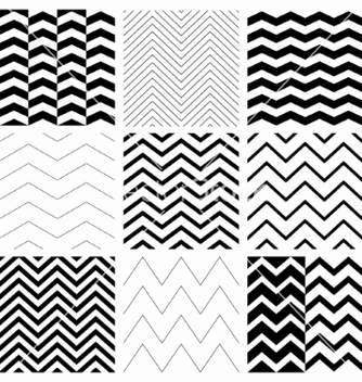 Free seamless black and white geometric background set vector - Free vector #235069