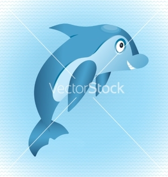 Free blue dolphin vector - Free vector #235129