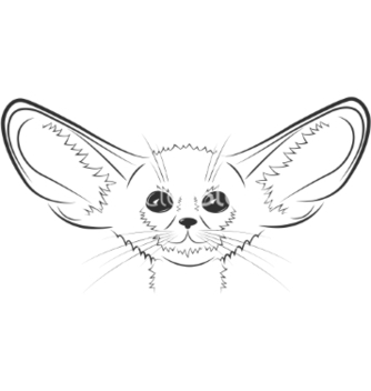 Free fennec fox hand drawn vector - vector #235209 gratis