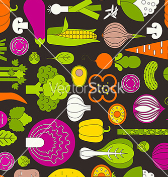 Free vegetable seamless vector - vector #235229 gratis