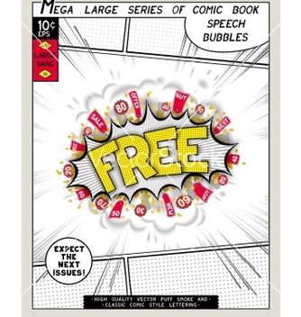Free series comics speech bubble vector - бесплатный vector #235279