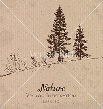Free two firtrees vector - Free vector #235289
