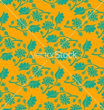 Free floral seamless background vector - vector #235369 gratis