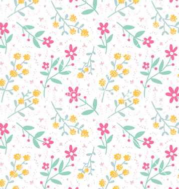Free spring mood seamless floral pattern vector - Free vector #235429