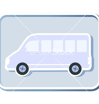 Free icon with isolated minibus vector - Kostenloses vector #235449