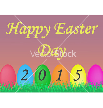 Free colorful greeting card for easter day vector - Kostenloses vector #235509