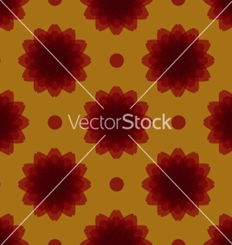 Free seamless symmetrical floral ornament vector - Free vector #235609