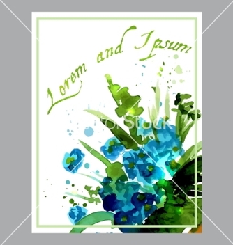 Free with flowers forgetmepainted vector - Free vector #235719