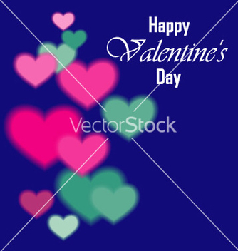 Free valentines day background with hearts vector - vector #235789 gratis