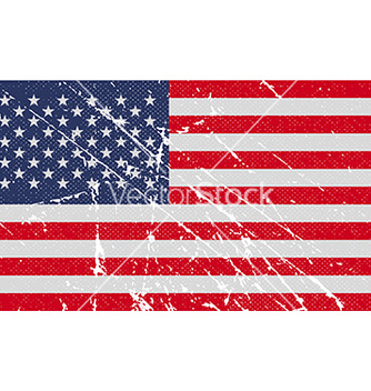 Free flag of usa with old texture vector - Kostenloses vector #235819