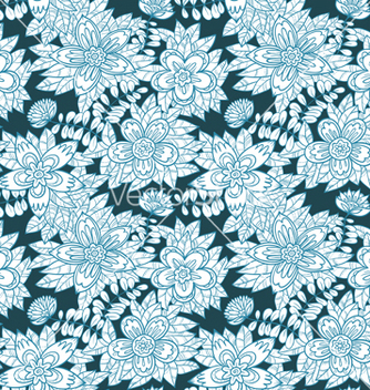 Free floral seamless vector - Free vector #235859