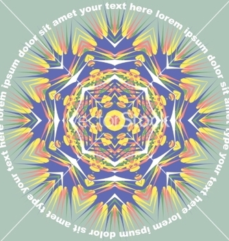 Free mandala round pattern with text vector - Free vector #235889