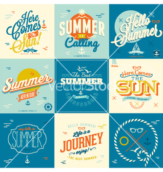 Free summer design vector - бесплатный vector #235919