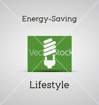 Free energy saving lifestyle poster silver background vector - vector #235939 gratis