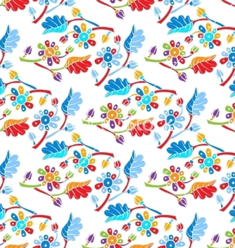 Free floral seamless background vector - vector #235979 gratis