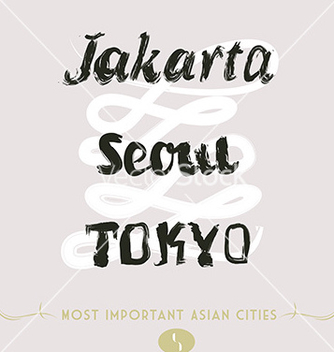 Free jakarta seoul tokyo vector - Free vector #236059