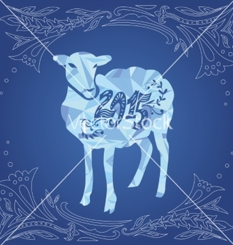 Free sheep and 2015 vector - Kostenloses vector #236259