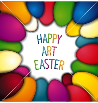 Free happy easter background vector - vector gratuit #236279
