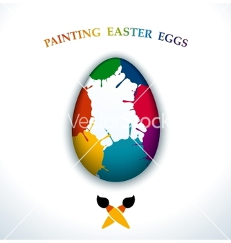 Free painting easter eggs vector - vector gratuit #236289