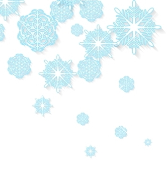 Free blue snowflakes on white background vector - Free vector #236359