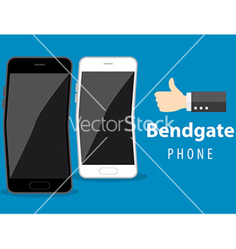 Free mobile phone bend vector - vector gratuit #236659