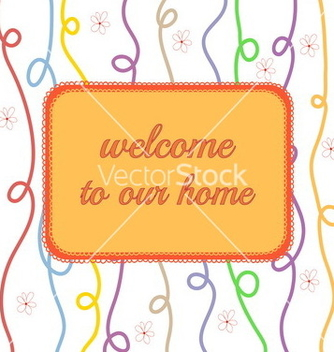 Free welcome to our home vector - vector #236669 gratis