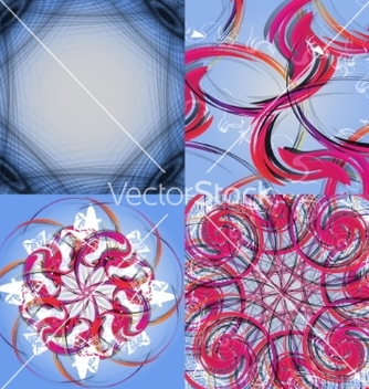 Free set of abstract modern wave colorful background vector - Free vector #236739