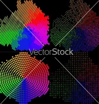 Free set of multicolored mosaic abstract background vector - Free vector #236759