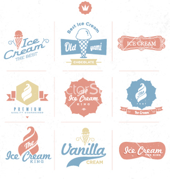 Free ice cream shop logo vector - vector gratuit #236779