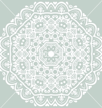 Free orient ornamental round lace vector - Free vector #236809