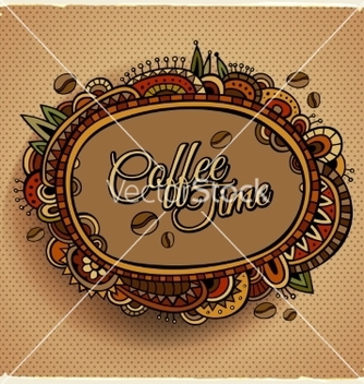 Free coffee time decorative border label design vector - Kostenloses vector #236939