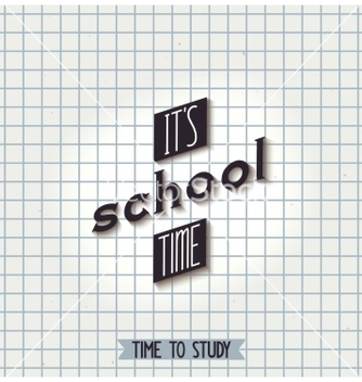 Free its school time vector - vector gratuit #236949