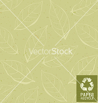 Free paper recycle on leaf design background vector - Free vector #237059