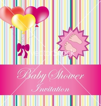 Free baby shower card vector - бесплатный vector #237099