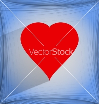 Free red heart web icon on a flat geometric abstract vector - vector #237109 gratis