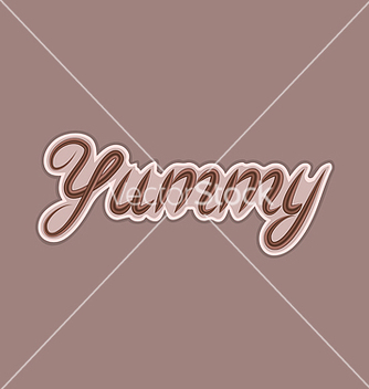 Free calligraphic title made of chocolate design vector - Kostenloses vector #237169