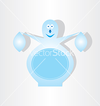 Free ice snowman blue design element vector - Kostenloses vector #237239