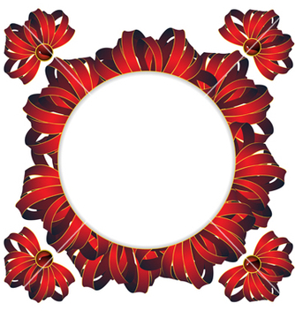 Free circle frame with bows vector - Free vector #237439
