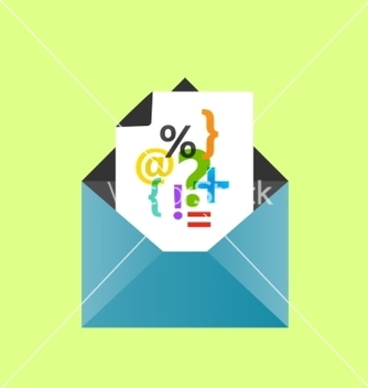 Free icon open envelope with a letter eps10 vector - Free vector #237469