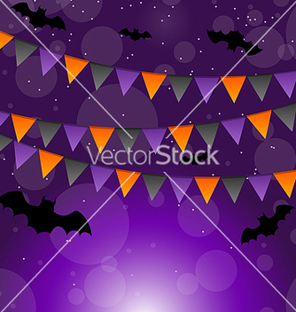 Free halloween background with hanging flags vector - Kostenloses vector #237499