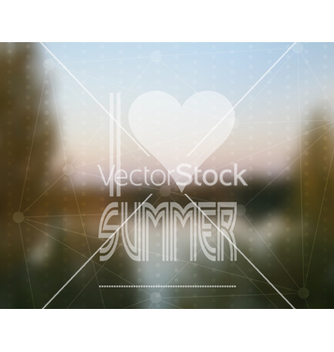 Free i love summer based on a real photograph vector - Kostenloses vector #237619