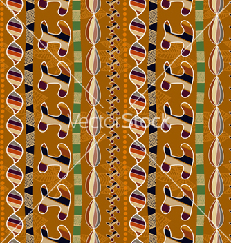 Free ethnic seamless texture with geometric elements vector - бесплатный vector #237769