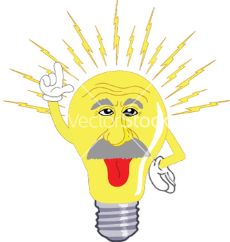 Free einstein light bulb vector - vector gratuit #237829