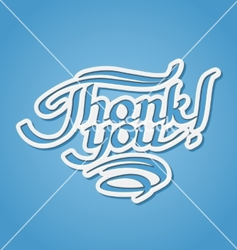 Free thank you handdrawn lettering vector - vector #237979 gratis