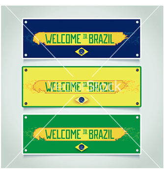 Free banners set welcome to brazil vector - Free vector #238019