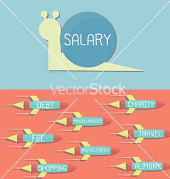 Free snail and rocket vector - vector #238079 gratis