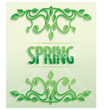 Free spring word with leaves composition vector - vector gratuit #238129