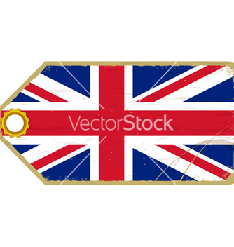 Free vintage label with the flag of united kingdom vector - Free vector #238139