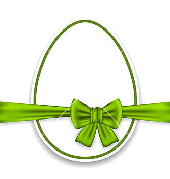 Free easter celebration egg wrapping green bow vector - Kostenloses vector #238169