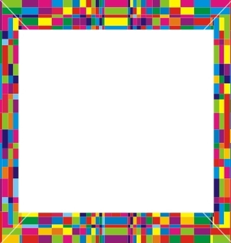 Free colorfull frame design vector - vector gratuit #238239
